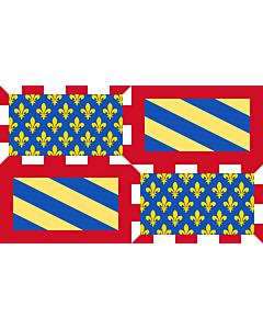 Fahne: Ancient Flag of Burgundy | Ancien de la Bourgogne