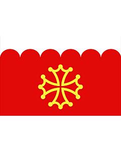 Fahne: Fr département Gard | Gard | Département du Gard