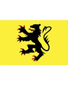 Fahne: Fr département Nord | Representing the  Lion of Flanders | Représentant le  Lion des Flandres | Que representa el  León de Flandes