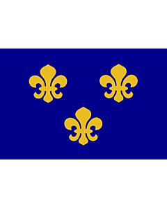 Fahne: Medieval France | Present day s Île-de-France In 1328, the coat-of-arms of the House of Valois was blue with gold fleurs-de-lis bordered in red
