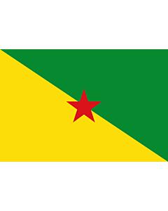 Fahne: Französisch-Guayana
