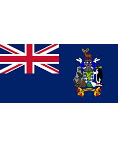 Fahne: Südgeorgien und die Südlichen Sandwichinseln