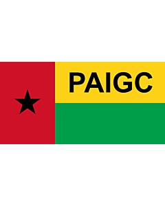 Fahne: PAIGC  variant | African Party for the Independence of Guinea and Cape Verde | Parti africain pour l indépendance de la Guinée et du Cap-Vert | Partido Africano para a Independência da Guiné e Cabo Verde | Флаг Африканской партии независимости Гвин
