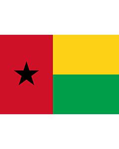 Fahne: Guinea-Bissau
