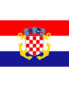 Fahne: Naval Ensign of Croatia