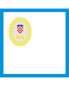 Fahne: Präsidenten der Regierung der Republik Kroatien