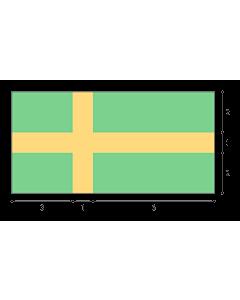 Fahne: Flagge: Die geometrische Konstruktion der Flagge der Stadt Pula