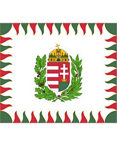 Fahne: War Flag of Hungary | Colour for brigades | Oficiala milita armea flago de Hungario | 1990 M