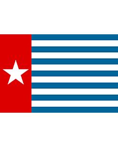 Fahne: Morning Star | Unofficial Morning Star flag | Morgenster, Vlag van Westelijk Nieuw-Guinea | Indonesia, Bendera Papua Barat | Флаг утренней звезды