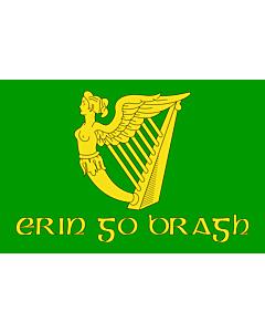 Fahne: Erin Go Bragh | Irish nationalist flag   version of Image Erin Go Bragh flag