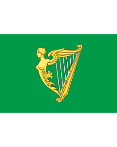 Fahne: Green harp flag of Ireland | A traditional green harp flag of Ireland with a slightly different harp from File Arms of Ireland  Historical