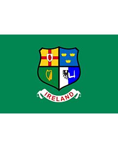 Fahne: Ireland hockey team | Field hockey team of Ireland  Four Provinces coat of arms -- Ulster
