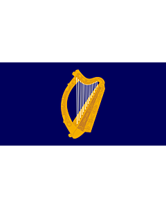 Fahne: President of Ireland | Presidential Flag of Ireland with alternate official state harp design
