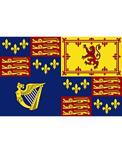 Fahne: Royal Standard of Great Britain  1603-1649 | Royal Standard of Great Britain  1603-1649, 1660-1689, 1702-1707