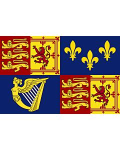 Fahne: Royal Standard of Great Britain  1707-1714 | Royal Standard of Great Britain between 1707 to 1714