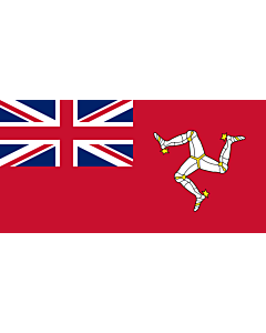 Fahne: Civil Ensign of the Isle of Man | Civil ensign of the Isle of Man | Civil de la Isla de Man | Corrillagh brattagh Ellan Vannin