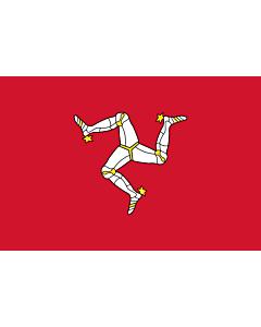 Fahne: Insel Man