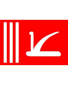 Fahne: Bundesstaates Jammu und Kashmir