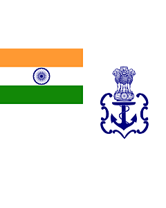 Fahne: Naval Ensign of India 2001 04