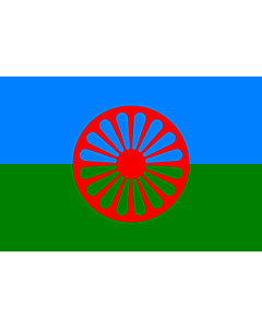Fahne: Romani people | Romani people, made using these dimensions