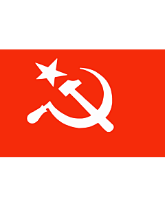 Fahne: SUCI | Official flag of the Socialist Unity Centre of India as per its constitution