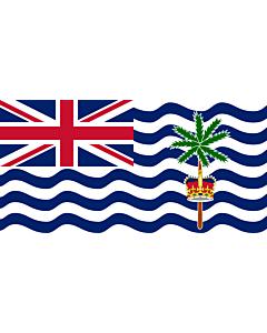 Fahne: Britisches Territorium im Indischen Ozean