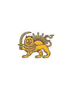 Fahne: Fath Ali Shah | Persian diplomatic flag introduced by Fath Ali Shah