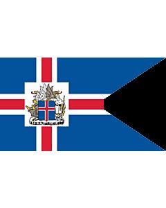 Fahne: Presidential Standard of Iceland | Icelandic Presidential