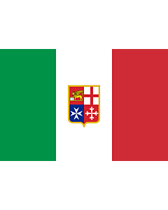 Fahne: Civil Ensign of Italy | Italy used by Italy current since 9 November 1947 created by format 2 3 shape rectangular colours see included flag other characteristics naval ensign Civil naval flag of Italy  the military naval flag differs from this one