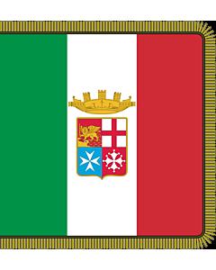 Fahne: Combat flag of the Italian Navy  front | Front of the combat flag of the Italian Navy | Fronte della bandiera di combattimento della Marina Militare