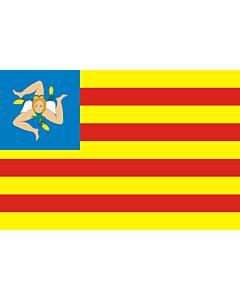 Fahne: FNS | Frunti Nazziunali Sicilianu  Sicilian National Front