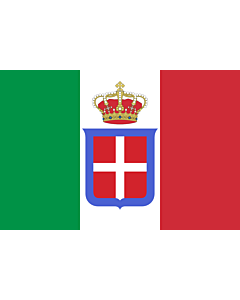 Fahne: Italy  1861-1946  crowned | It is easy to put a border around this flag image