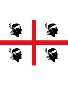 Fahne: Sardinia | It is easy to put a border around this flag image | Regione autonoma italiana Sardegna | Sa regione autònoma de sa Sardinna