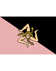 Fahne: Sicily  pink and black | Sicilian flag - Pink and black version  featuring US Città di Palermo colours