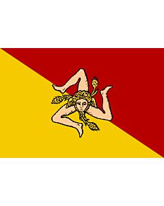 Fahne: Sizilianischen Region  oder der Autonomen Region Sizilien