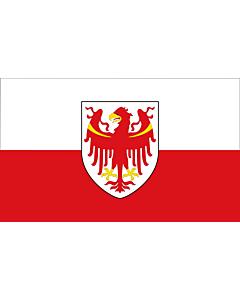 Fahne: Autonomen Provinz Bozen - Südtirol
