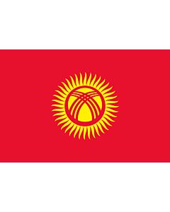 Fahne: Kirgisistan