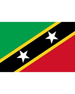 Fahne: St. Kitts und Nevis