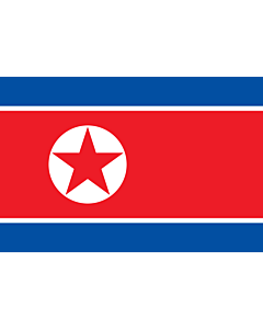 Fahne: Korea (Demokratische Volksrepublik) (Nordkorea)