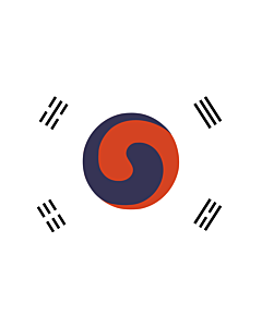 Fahne: Korea 1882 | 1882 version of the flag of Korea