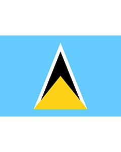 Fahne: Saint Lucia (St. Lucia)