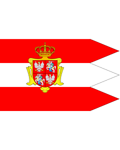 Fahne: Rzeczypospolitej Obojga Narodow ogolna | Royal banner  not a flag  of the Polish-Lithuanian Commonwealth  during the reign of the House of Vasa   1587-1668  but without any symbols of the House of Vasa and Polish-Swedish personal union | Chorągiew