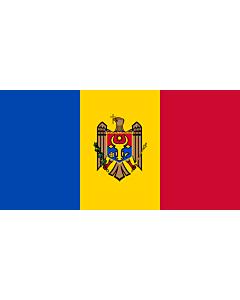 Fahne: Moldawien (Republik Moldau)