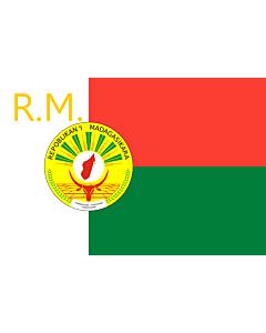 Fahne: Presidential Standard of Madagascar