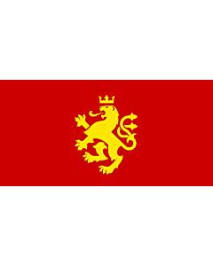 Fahne: Macedonia - ethnic | Еthnic Macedonian lion | Етничко македонско знаме со лав