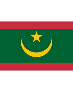Fahne: Mauretanien