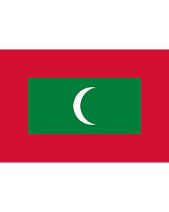 Fahne: Malediven