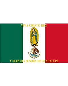 Fahne: Mexico Flag Cristeros | Such as this one were used by the Cristeros when resisting the secular government forces in the  Cristero War | Utilizado por los Cristeros en la Guerra Cristera | Īpān Cristopīxqueh
