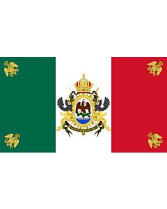 Fahne: Segundo Imperio Mexicano  1864-1867 | Second Mexican Empire | Segundo Imperio Mexicano