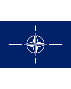 Fahne: Organisation des Nordatlantikvertrags/ North Atlantic Treaty Organization  NATO